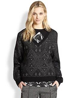 Faith Connexion - Metallic Jacquard Sweater
