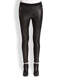 Faith Connexion - Leather & Fleece Paneled Pants