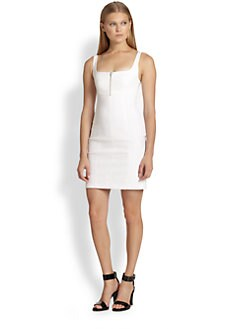 T by Alexander Wang - Zip-Front Stretch Jersey Dress