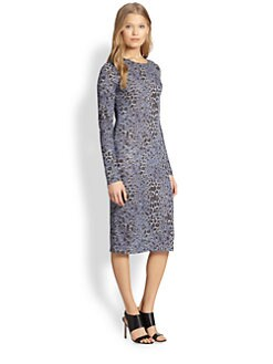 10 Crosby Derek Lam - Leopard-Print Jersey Dress