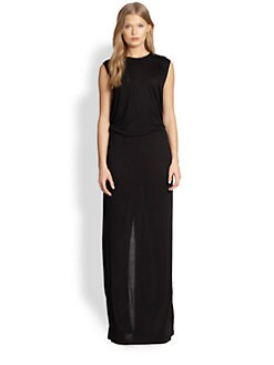10 Crosby Derek Lam - Split-Back Jersey Maxi Dress
