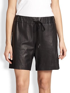 10 Crosby Derek Lam - Leather Drawstring Shorts