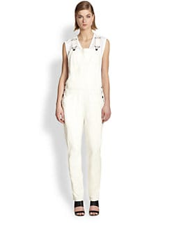 10 Crosby Derek Lam - Leather Overalls