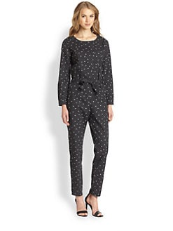 A.P.C. - Popeline Hitchcock Printed Cotton Jumpsuit