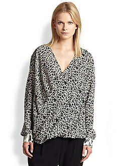 10 Crosby Derek Lam - Stretch Silk Draped Crossover Blouse