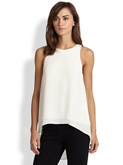 Elizabeth and James - Everly Pleated-Back Hi-Lo Top