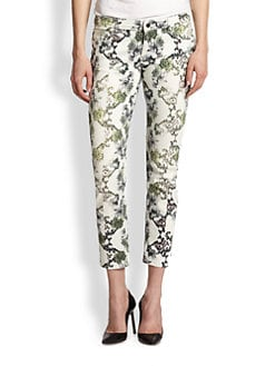 Faith Connexion - Printed Skinny Ankle Jeans