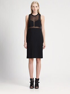 Alexander Wang - Mesh-Trim Tank Dress