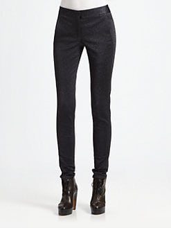 Alexander Wang - Glitter Drainpipe Skinny Jeans