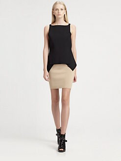 Alexander Wang - Cropped Peplum Top
