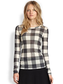 Rag & Bone - Plaid Long-Sleeve Tee