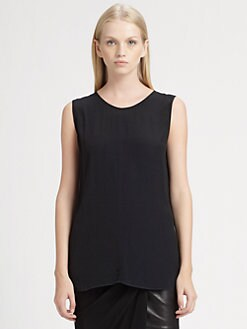 Alexander Wang - Chiffon-Trim Top