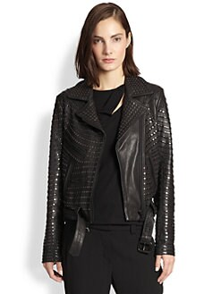 A.L.C. - Studded Leather Motorcycle Jacket