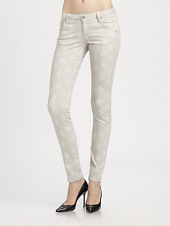 girl. by Band of Outsiders - Floral-Print Skinny Jeans