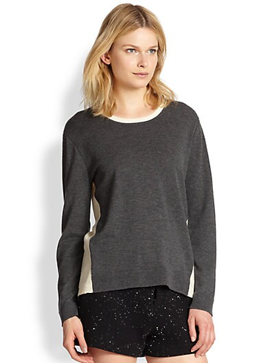 Renelle Two-Tone Wool & Cashmere Sweater