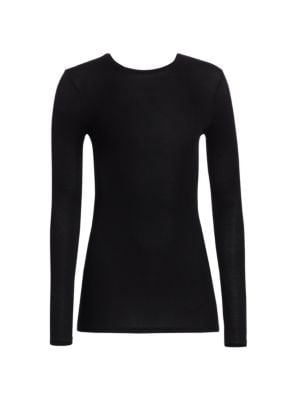 Micro-Ribbed Crewneck Top by ATM Anthony Thomas Melillo