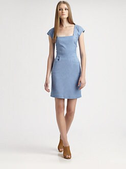 L'AGENCE - Cap-Sleeve Sheath Dress