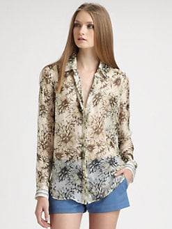 L'AGENCE - Print Silk Shirt