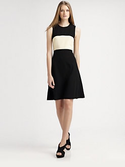 L'AGENCE - A-Line Colorblock Dress