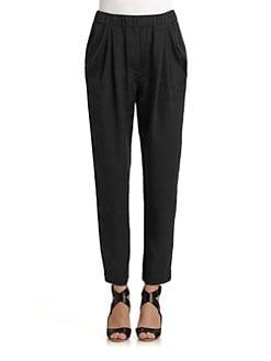 3.1 Phillip Lim - Draped-Pocket Silk Trousers