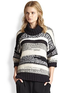 10 Crosby Derek Lam - Boxy Striped Turtleneck Sweater