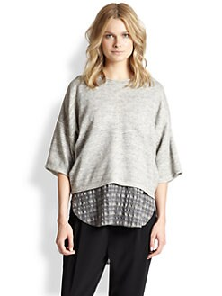 10 Crosby Derek Lam - Layered Cotton Sweatshirt