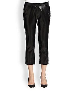 Alasdair - Charlie Coated Silk Cropped Pants