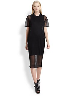 Alexander Wang - Sheer-Layer Dress