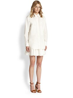 10 Crosby Derek Lam - Pleated Skirt Cotton Shirt Dress