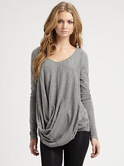 Elizabeth and James - Liza Draped Jersey Tee