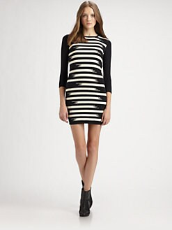 Gryphon - Broken Stripe Sweaterdress