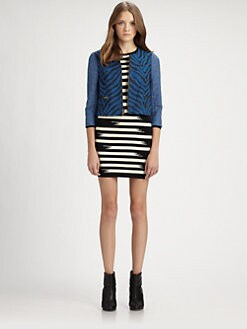 Gryphon - Joy Zebra-Print Jacket