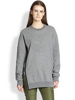 3.1 Phillip Lim - Quilted-Pattern Cotton Jersey Sweatshirt