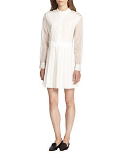 10 Crosby Derek Lam - Silk-Paneled Cotton Shirtdress