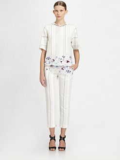 3.1 Phillip Lim - Embellished Mixed-Print Tee