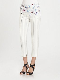 3.1 Phillip Lim - Mixed-Print Cropped Pants