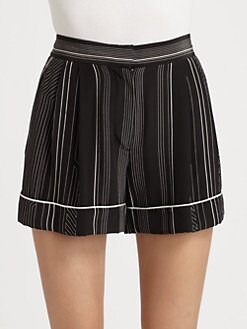 3.1 Phillip Lim - Panama Striped Silk Shorts