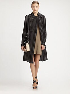 3.1 Phillip Lim - Striped Silk Trenchcoat
