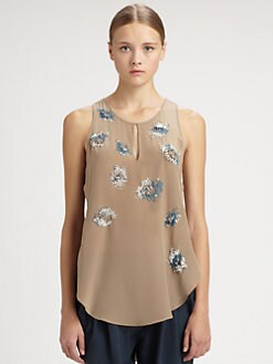 3.1 Phillip Lim - Embellished Silk Top