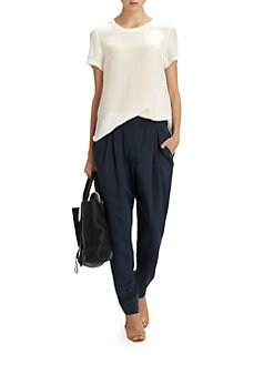 3.1 Phillip Lim - Silk Shirttail Tee