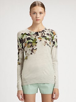 3.1 Phillip Lim - Floral-Print Wool Sweater
