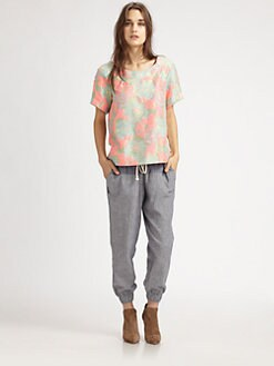 Suno - Boxy Watercolor Top