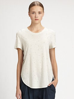 3.1 Phillip Lim - Embellished Silk-Trim Tee