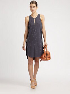 3.1 Phillip Lim - Embellished Silk-Trim Dress