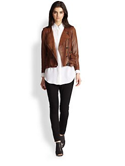3.1 Phillip Lim - Ruffle-Hem Leather Jacket