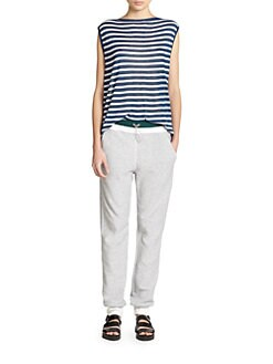 T by Alexander Wang - Striped Muscle Tee