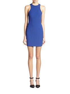 T by Alexander Wang - Tech Suiting Stretch Sheath Dress