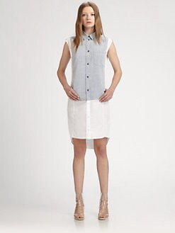 Maison Martin Margiela MM6 - Combo Cap-Sleeve Shirtdress