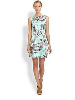 Thakoon Addition - Open-Back Zebra-Print Dress