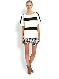 Thakoon Addition - Eyelet-Striped Tee